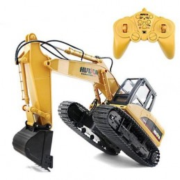 Backhoe with bucket metal 1/14 RC 2.4 GHz - HuiNa