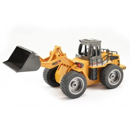 Bulldozer RC avec godet métal 1/18 2.4Ghz - HuiNa