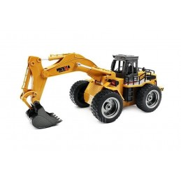 Excavator on wheels with bucket metal 1/18 RC 2.4 GHz - HuiNa