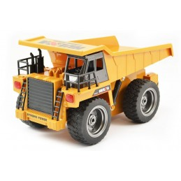 Dump truck RC with cabin metal 1/18 truck 2.4 GHz - HuiNa