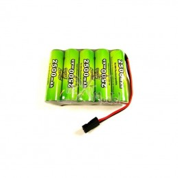 Accu réception Ni-Mh 2500mAh 6V (JR) A2Pro