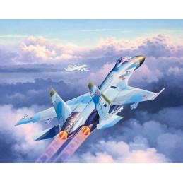 Suchoi Su-27 Flanker 1/144 + peintures Revell