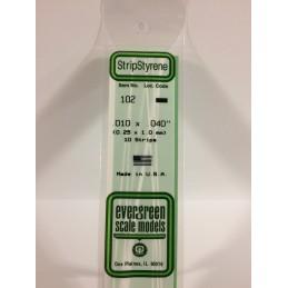 Baguette 0.25x1.0x350mm Ref : 102 - Evergreen