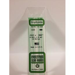 Baguette 0.25x1.5x350mm Ref : 103 - Evergreen