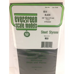 Black plate smooth 0.75x150x300mm Ref: 9514 - Evergreen