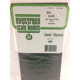 Plaque noire lisse 0.75x150x300mm Ref : 9514 - Evergreen