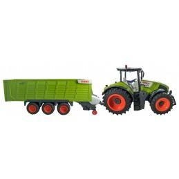 Tracteur Claas Axion 870 + remorque autochargeuse 3 essieux 1/16 RTR 33425