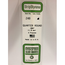 Quarter round 1.5x350mm Ref: 248 - Evergreen