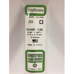 Tube carré 4.8x350mm Ref : 253 - Evergreen