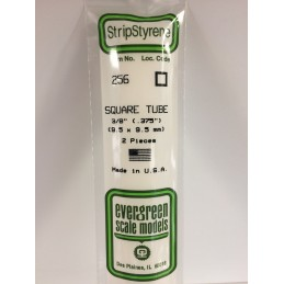 Square tube 9.5x350mm Ref: 256 - Evergreen