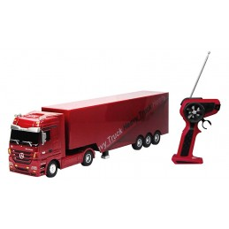 Camion Mercedes Benz Actros + semi rouge 1/32