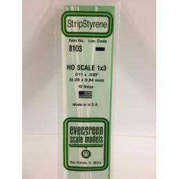 Baguette HO 0.3x0.8x350mm Ref : 8103 - Evergreen