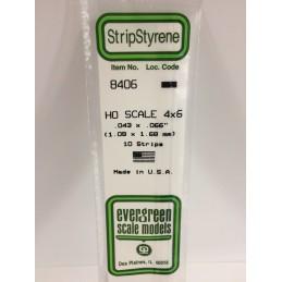 Baguette HO 1.1x1.7x350mm Ref : 8406 - Evergreen