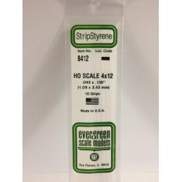 Baguette HO 1.1x3.4x350mm Ref : 8412 - Evergreen