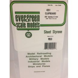 Plaque rainurée en escalier 1.0x1.3x150x300mm Ref : 4051 - Evergreen