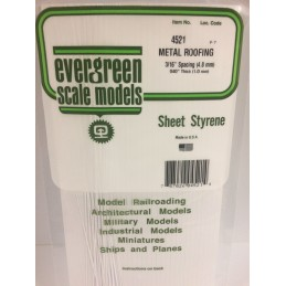 Plaque type bardage métallique 1.0x4.8x150x300mm Ref : 4521 - Evergreen