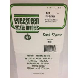 Plaque quadrillée 1.0x3.2x150x300mm Ref : 4514 - Evergreen