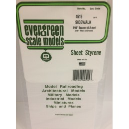 Plaque quadrillée 1.0x4.7x150x300mm Ref : 4515 - Evergreen