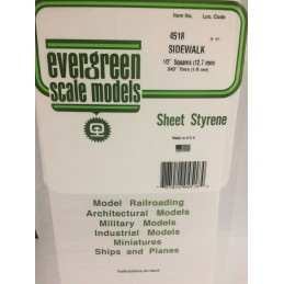 Plaque quadrillée 1.0x12.7x150x300mm Ref : 4518 - Evergreen