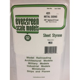 Plaque type métal ondulé 1.0x0.75x150x300mm Ref : 4525 - Evergreen