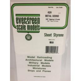 Plaque type métal ondulé 1.0x1.0x150x300mm Ref : 4526 - Evergreen