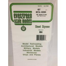 Plaque type métal ondulé 1.0x1.5x150x300mm Ref : 4527 - Evergreen