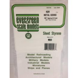 Plaque type métal ondulé 1.0x2.0x150x300mm Ref : 4528 - Evergreen
