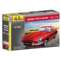 Jaguar Type E 3L8 FHC 1/24 Heller + colle et peintures
