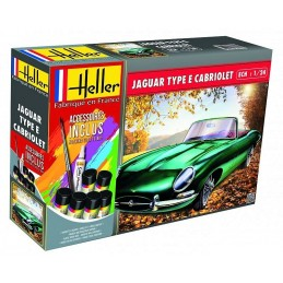 Jaguar Type E 328 OTS Cabriolet 1/24 Heller + colle et peintures