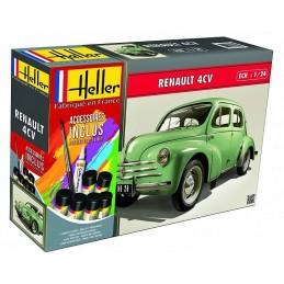 Renault 4 CV 1/24 Heller + colle et peintures