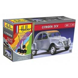 Citroën 2 CV 1/43 Heller + colle et peintures