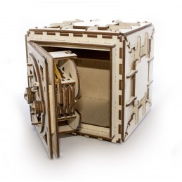Chest Fort Safe Puzzle 3D wood UGEARS
