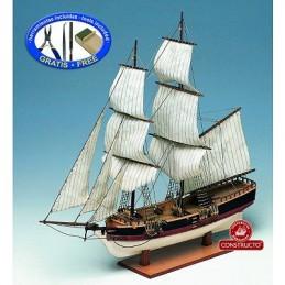 Union 1/100 bateau bois + outils, peinture Constructo