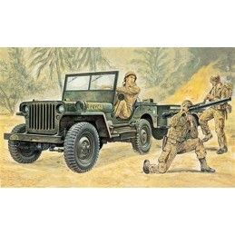 Willys Jeep with soldiers 1/35 Italeri