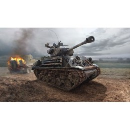"Tank M4A3E8 Sherman ""Fury"" 1/35 Italeri"