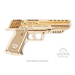 Pistolet Wolf-01 3D bois UGEARS