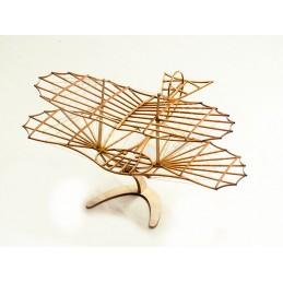 Planeur Otto Lilienthal découpe laser bois, modèle statique DW Hobby