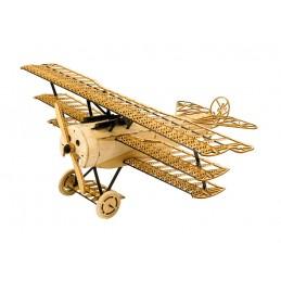 Fokker DR-I 1/18 découpe laser bois, modèle statique DW Hobby