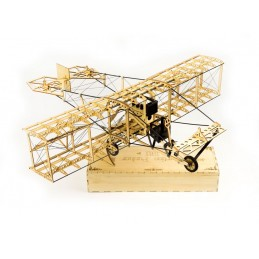 Curtiss Pusher 1911 1/17 laser cutting wood, static model DW Hobby
