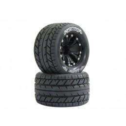 """1/10 MT-Rocket soft tires + rim 2.8 """"black Louise RC"""