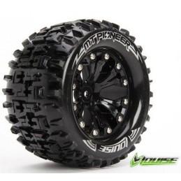 "1/10 MT-Pioneer soft tires + rim 2.8 ""black Louise RC"
