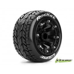 """1/10 ST - Rocket soft tires + rim 2.8 """"black Louise RC"""