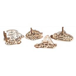 U - Fidget boats Puzzle 3D wood UGEARS