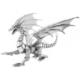 Iconx silver Metal Earth Dragon