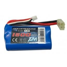 7.4V 1500mAh Li-ion battery car Swinger, (mini Tamiya)