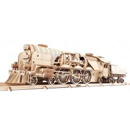 Locomotive à vapeur train V-Express Puzzle 3D bois UGEARS
