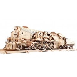 Locomotive steam train V-Express Puzzle 3D wood UGEARS