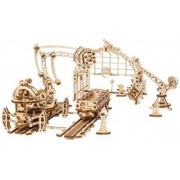 Manipulateur, grue ferroviaire Puzzle 3D bois UGEARS