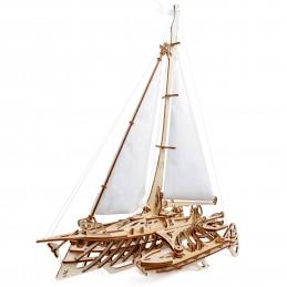 Boat sailing Trimaran Merihobus Puzzle 3D wood UGEARS