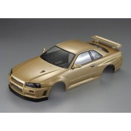 Body Nissan Skyline R34 Gold 1/10 195 mm Killerbody